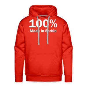 Majica 100% Made In Serbia - Sweat-shirt à capuche Premium pour hommes