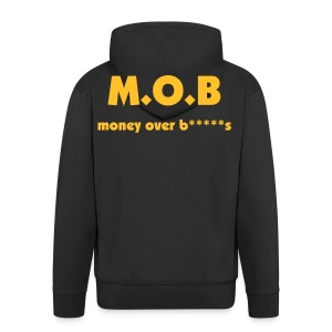 BLACK M.O.B HOODED JACKET - Men's Premium Hooded Jacket
