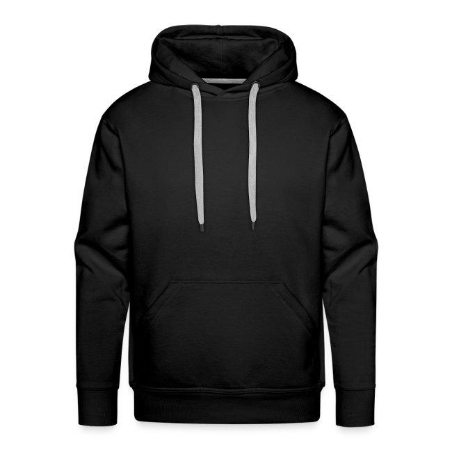 Uomo: Felpa con cappuccio nera / Logo in rilievo bianco