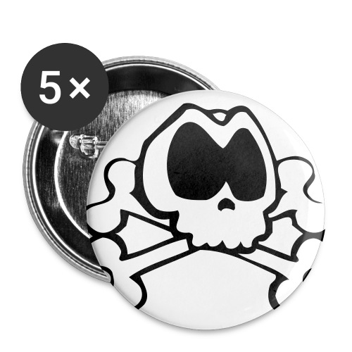 Badge avec logo noir - Lot de 5 grands badges (56 mm)