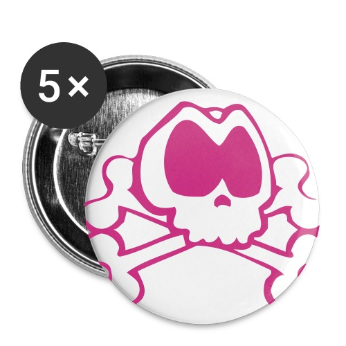 Badge avec logo magenta - Lot de 5 grands badges (56 mm)