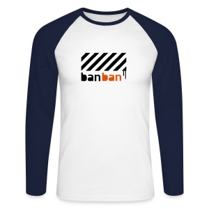 banban homme long - T-shirt baseball manches longues Homme