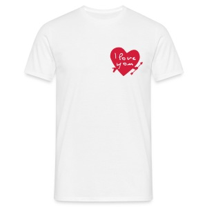 I love you blanc - T-shirt Homme