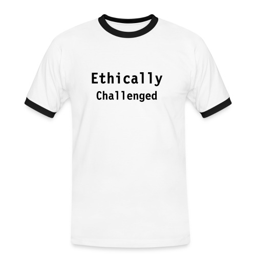 Ethically Challenged - Herre kontrast-T-shirt