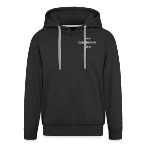 Counterwiki.com hoodie - Men's Premium Hooded Jacket