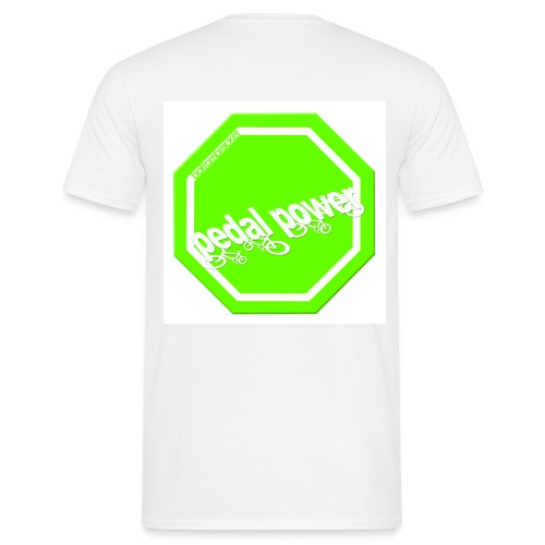 Hi Viz Pedal Power - print on back - Men's T-Shirt