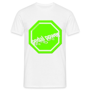 Hi Viz Pedal Power - front & back - Men's T-Shirt