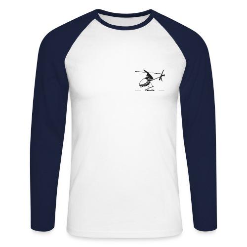 Piccolo (blau) - Männer Baseballshirt langarm