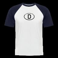 T-Shirts ~ Männer Baseball-T-Shirt ~ Shirt mit passendem Motiv