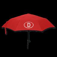 Regenschirme ~ Regenschirm (klein) ~ Schirm mit Aussage