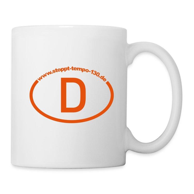 Tasse mit Bekenntnis zur freien Fahrt - Tasse