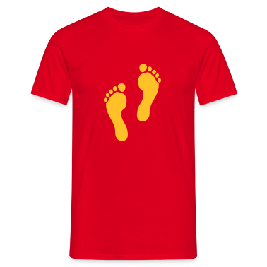 Red Footprints Men's T-Shirts