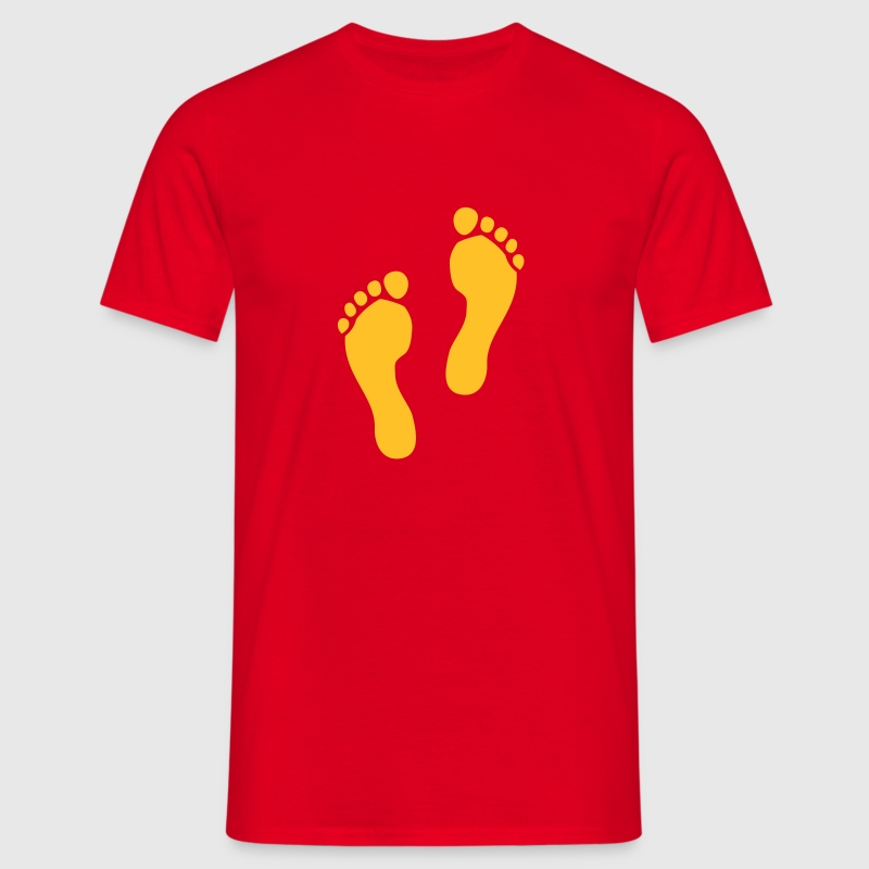 Red Footprints Men's T-Shirts - Men's T-Shirt