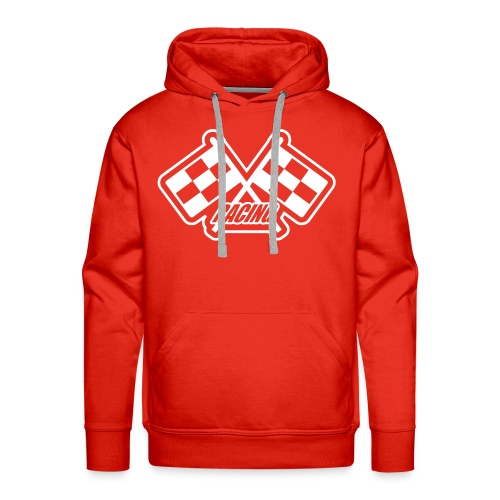 Red Hoody incorporating Racing emblem - Men's Premium Hoodie