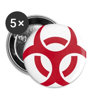 Viral Badges 5 Pack - Red - Buttons small 25 mm