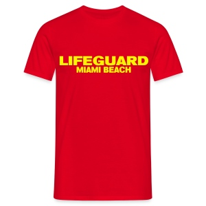 LifeGuard Miami Beach - T-shirt Homme
