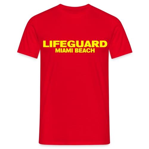 LifeGuard Miami Beach - T-shirt Homme