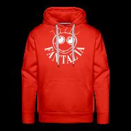 Hoodies & Sweatshirts ~ Men's Premium Hoodie ~ Smiley Face Hooded Sweatshirt Logos front/back