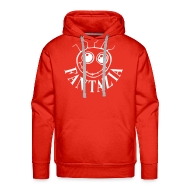 Hoodies & Sweatshirts ~ Men's Premium Hoodie ~ Smiley Face Hooded Sweatshirt Logos front/back