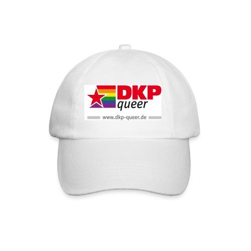 DKP queer Basecap weiss - Baseballkappe