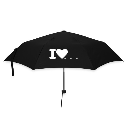 Black 'Love Glamour' Umbrella - Umbrella (small)