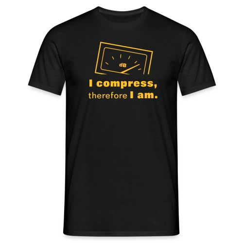 I compress, therefore I am - Men's T-Shirt