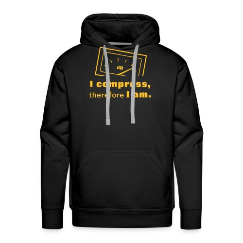 I compress, therefore I am - Men's Premium Hoodie