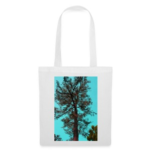 ABSTRACT TREE IN CYAN   - Tote Bag