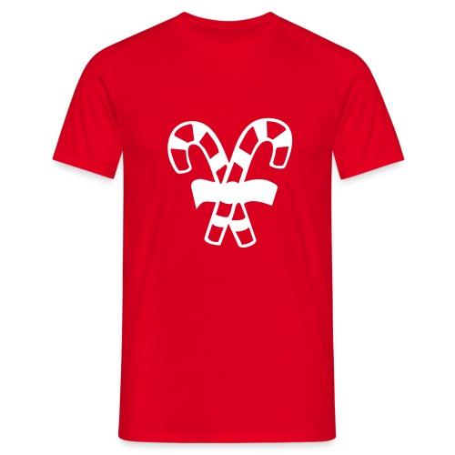 Bastones de Caramelo Navidad (Hombre) - Camiseta hombre