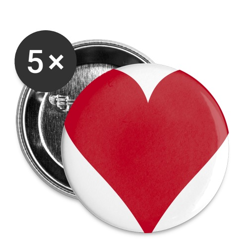 Love Heart Badge Pack - Buttons large 2.2''/56 mm(5-pack)