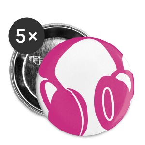 Earphone badge pink x5 - Buttons small 25 mm