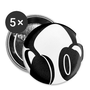 Earphone badge x5 - Buttons small 25 mm
