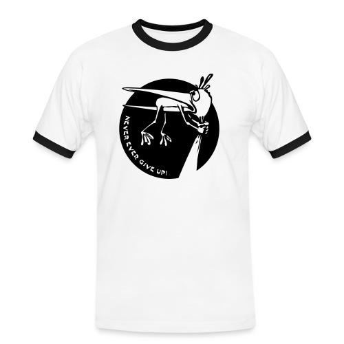 NeverGiveUp T-Shirt - Männer Kontrast-T-Shirt