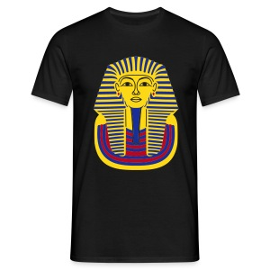 Tutankhamun Mask (Flock Print) - Men's T-Shirt