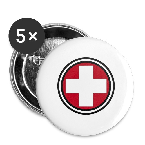 First Aid-rintanappi - Rintamerkit isot 56 mm (5kpl pakkauksessa)