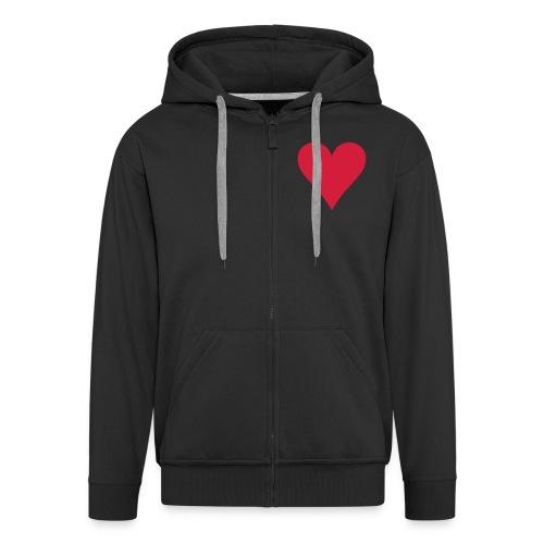 Heart Hoodie - Men's Premium Hooded Jacket