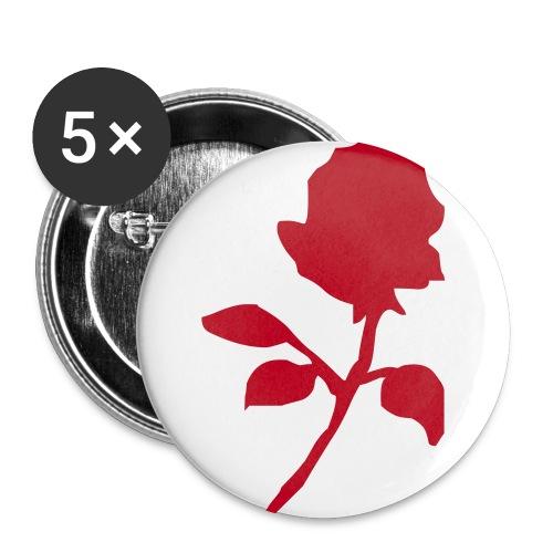 Ruusupinssit - Rintamerkit isot 56 mm (5kpl pakkauksessa)