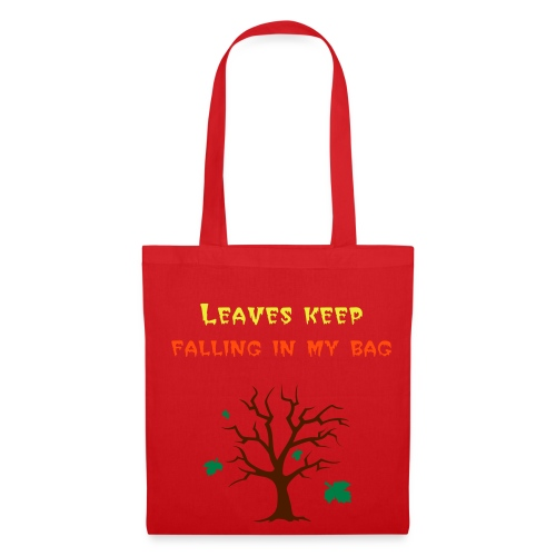 Tote Bag - When your shopping in autumn do leaves keep falling in your bag? Gets annoying dont it? Let everyone know with this gorgeous red bag!!! Looks great without any outfit!!