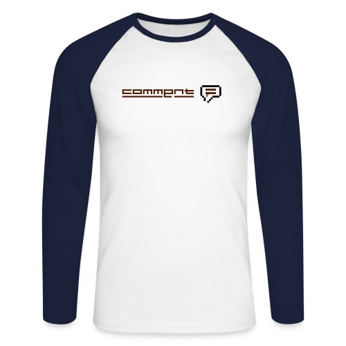comment homme - T-shirt baseball manches longues Homme