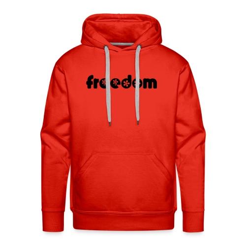 Maglione Freedom Red - Felpa con cappuccio premium da uomo