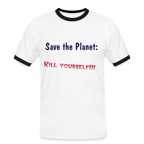 Save The Planet Shirt - Männer Kontrast-T-Shirt