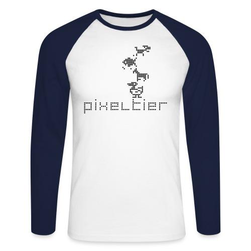 Pixeltier - Männer Baseballshirt langarm