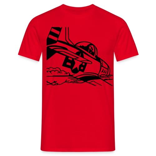 pop art vliegtuig - Mannen T-shirt