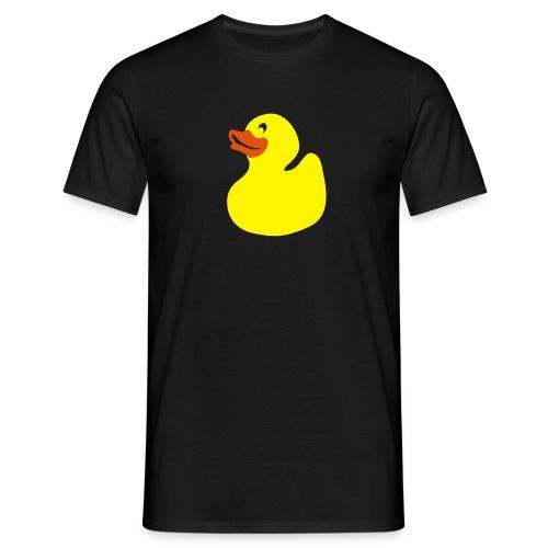 zwart shirt eendje - Mannen T-shirt