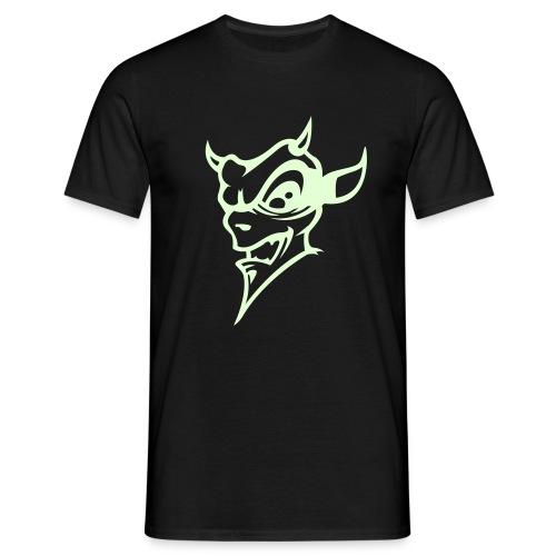Glow in the dark Devil - T-skjorte for menn