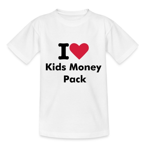 I Love Kids Money Pack Tshirt - Teenage T-shirt