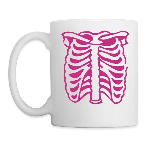 Skeleton Rib Cage Mug - Pink - Mug