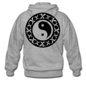 Yin Yang Hoody (Grey) - Men's Premium Hooded Jacket