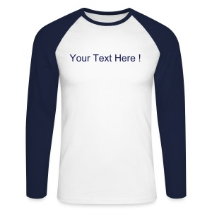 Long Sleeve Baseball Tee Navy/White - Men's Long Sleeve Baseball T-Shirt