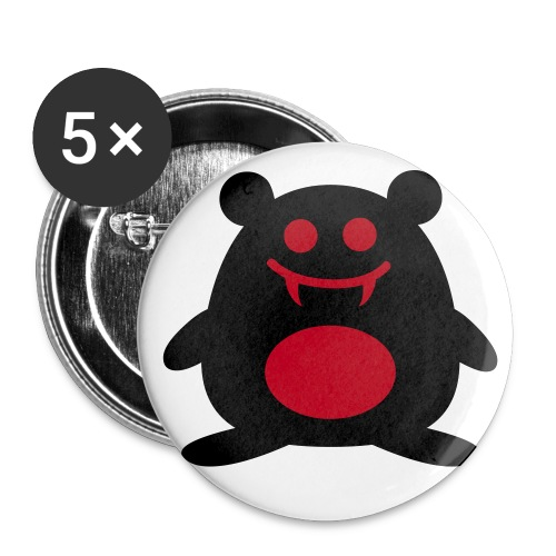 Black&Red Hamster Badge - Buttons medium 32 mm